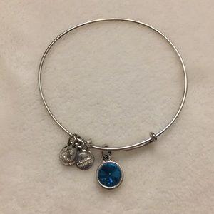 Blue gem alex and ani bracelet